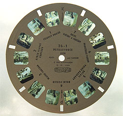 Пластинка с видами Петродворца